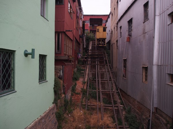The allegedly soon to be repaired Cerro Mariposas funicular.