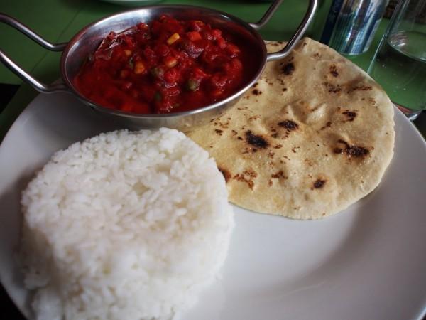 Indian food in Bellas Artes, New Horizon